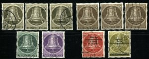 GERMANY OCCUPATION Deutsche Post Stamps Postage Collection Freedom Bell USED MLH