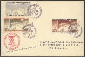 Germany 1934 Zucker Rocket Mail Cover Hexentanzplatz Thale Harz 103414