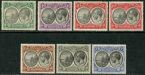 DOMINICA  Sc#65-70, 73 1923-1933 KGV Definitives Mint Hinged
