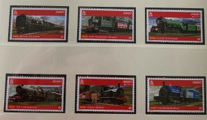 JE45) Jersey 2015 Europa Traditional Toy Trains set of 6 MUH