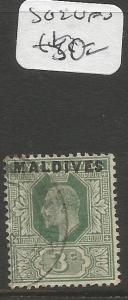 Maldives SG 2 VFU (6cmi)
