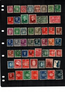 Norway   hinged and used  lot of 48