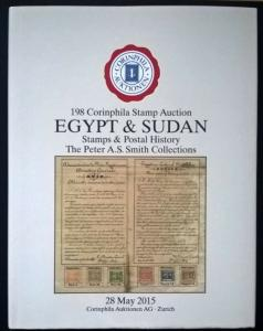 Auction catalogue EGYPT Stamps Postal History Peter AS Smith Specialised
