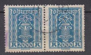 J29457, 1922-4 austria pair used #285