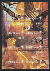 Scouts Russian republic Buriata vultures wild animals ms