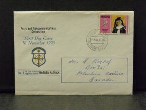 6083   Rhodesia   FDC # 302   Famous People - Mother Patrick        CV$ 5.00