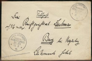 Germany 1915 WWI Navy Feldpost MSP13 SMS Helgoland Cover 94886