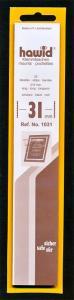 Hawid Stamp Mounts Size 31/210 BLACK Background Pack of 25