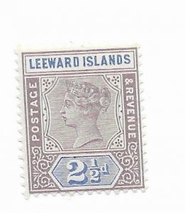 Leeward Islands #3 MH - Stamp - CAT VALUE $8.50