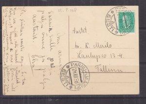 ESTONIA, 1938 ppc., 5s. PARNU-JAAGUPI to Tallinn.