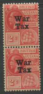 STAMP STATION PERTH British Guiana #MR1 - War Tax MNH Wmk 3  Vert. Pair CV$4.00