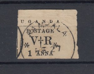Uganda Protectorate QV 1896 1 Anna Kampala CDS Used JK864