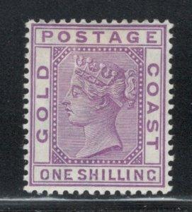 Gold Coast 1888 Queen Victoria 1sh Scott # 19 MH