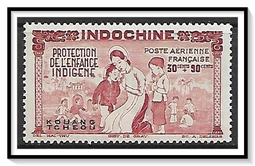French Offices Abroad - Kwangchowan #CB3 Airmail Semi-Postal MNH
