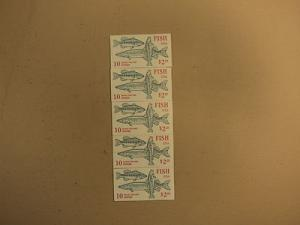 USPS Scott 2205-09 22c 1986 Fish 5 Books OF 10 50 Stamps ...