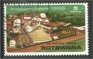 BOTSWANA, 1966, used 5c, Abattoir, Lobatsi, Scott 2