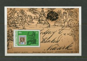 Cayman Islands -Scott 429 - Sir Rowland Hill -1979- MNH -Souvenir Sheet
