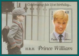 Papua New Guinea MNH S/S 1077 Prince William 2003