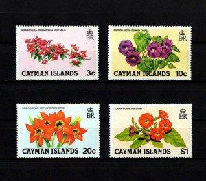 CAYMAN IS - 1981 - WILD FLOWERS - CORDIA - MORNING GLORY ++ 4 X MINT - MNH SET!