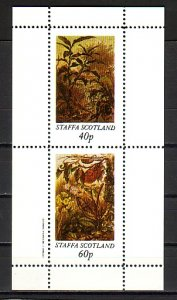 Staffa Local. 1982 issue. Paintings of Plants sheet of 2. ^