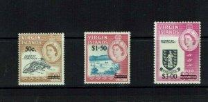 British Virgin Is: 1966, Queen Elizabeth II definitive, surcharge set,  MLH