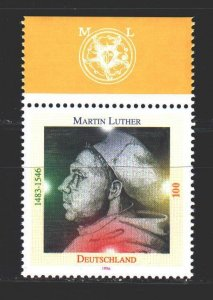 Germany. 1996. 1841. Martin Luther, Church Reformer. MNH.