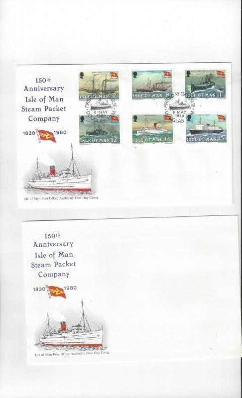 Isle of Man FDC 168-73 Anniversary Steam Packet Company  Official Cachet