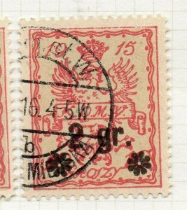 Poland Warsaw 1916 Early Issue Fine Used 2gr. Surcharged Postmark NW-14437