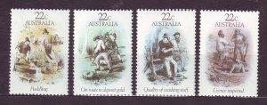 J23834 JLstamps 1981 australia set mnh #780-3 gold rush