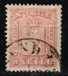 Norway #9 F-VF Used CV $60.00 (X9620)