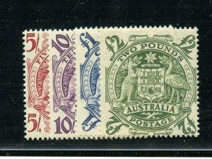 AUSTRALIA COAT OF ARMS SCOTT#218/21 MINT HINGED FULL OG--SCOTT VALUE $219.00