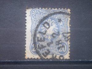 "GERMANY, Empire, 1880, used 20pf, ""Pfennig""  Scott 40"