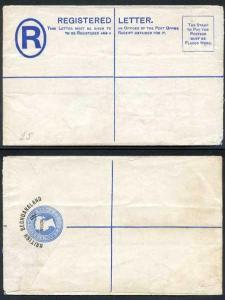 British Bechuanaland 4d O/P on QV 2d Blue Registered Letter Mint
