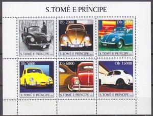 2003 Sao Tome and Principe 2235-40KL Cars / Volkswagen 11,00 €