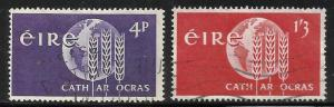 Ireland 1963 FAO Scott# 186-187 Used