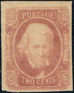 CSA #8 1863 2c CONFEDERATE STATES  MINT-OG/HINGED