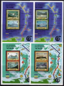 British Virgin Islands 1986 Sc#555/8 Cable & Wireless Ships 4 SS Perforated MNH