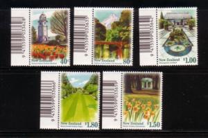 New Zealand Sc 1400-4 1996 Gardens stamps mint NH