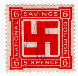 (I.B) Cinderella Collection : National War Savings 6d