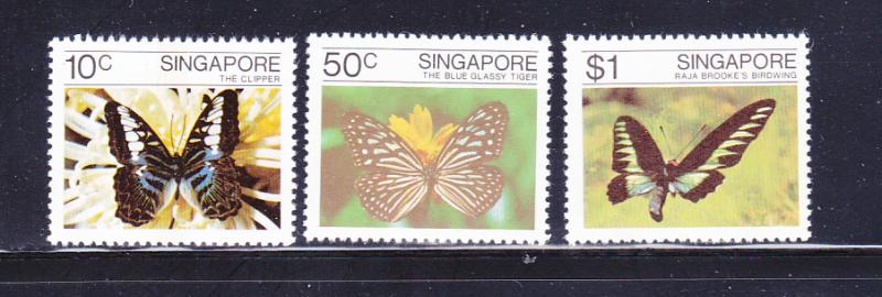 Singapore 387-389 Set MNH Insects, Butterflies (D)
