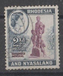 Rhodesia & Nyasaland 1959 QEII Portrait & Various Designs 2.(1/2)p (1/15) USED