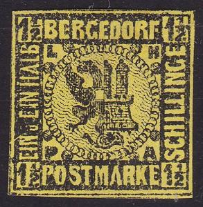 BERGEDORF GERMANY  An old forgery of a classic stamp........................1018