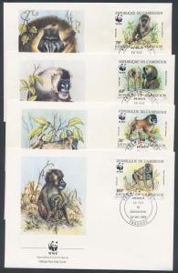 Cameroon stamp WWF Drill set FDC Cover 1988 Mi 1155-1158 WS147060