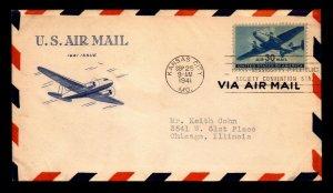 US SC# C30 FDC / Grimsland Cachet / Typed Address - L5543