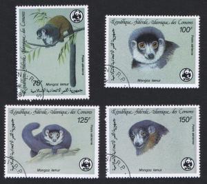 Comoro Is. WWF Mongoose Lemur 4v CTO SG#613-616 SC#C171-C174 MI#792-795