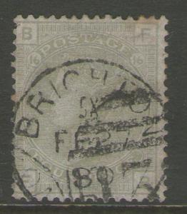 GB 1877 Queen Victoria SG 153 PL16  FU