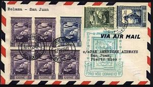PORTUGUESE GUINEA 1941 first flight cover to Puerto Rico...................19996