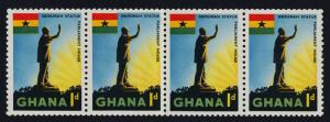 Ghana 49a paste up coil strip MNH Nkrumah Statue