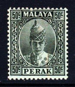 PERAK MALAYSIA 1938 Sultan Iskandar 50c. Black on Emerald Paper SG 118 MNH