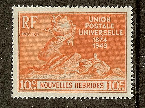 New Hebrides, Scott #79, UPU Issue, MLH